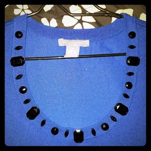 NY Collection Beaded Sweater/Top